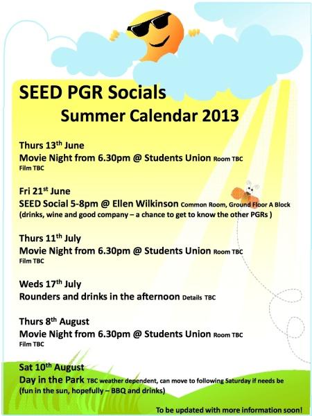 SEED PGR Socials flyer